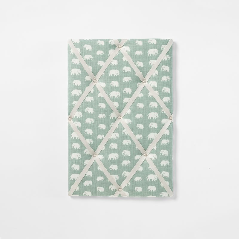 Noticeboard - Small, Linen, Elefant, Frost Green | Svenskt Tenn