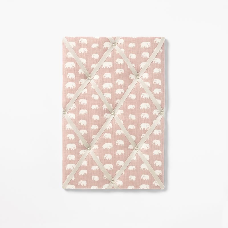 Noticeboard - Small, Linen, Elefant, Light Pink | Svenskt Tenn