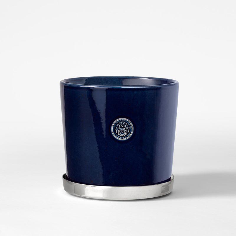 Pot Svenskt Tenn - 16 cm, Stoneware, Midnight blue | Svenskt Tenn