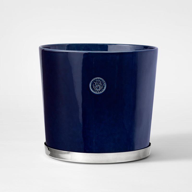 Pot Svenskt Tenn - 23,5 cm, Stoneware, Midnight blue | Svenskt Tenn