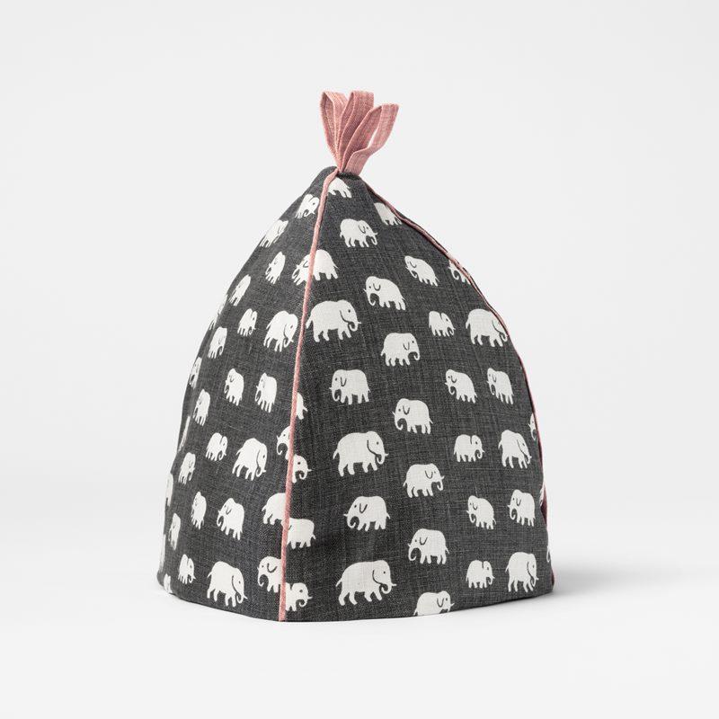 Tehuva Elefant - 26,5 cm, Lin, Elefant, Grå | Svenskt Tenn