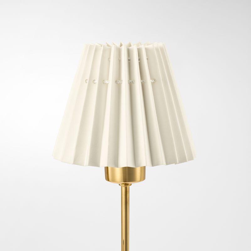 Pleated Lampshade - 11,5 cm, Cotton, Nature | Svenskt Tenn