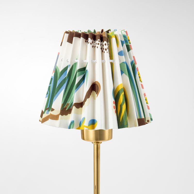 Pleated Lampshade - 11,5 cm, Cotton, Primavera | Svenskt Tenn