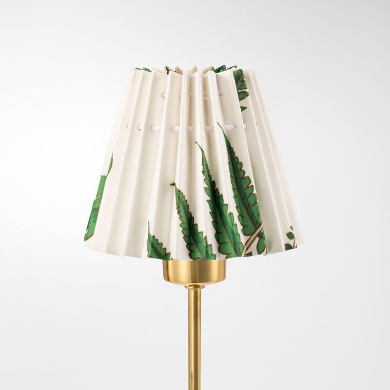Pleated Lampshade - 11,5 cm, Cotton, Stensöta | Svenskt Tenn
