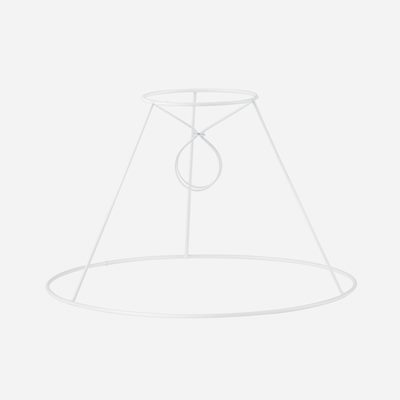 Wire frame pleated lampshade
