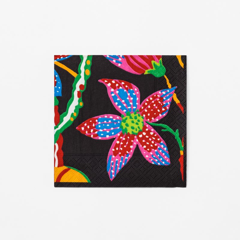 Papernapkins Teheran - 12,5x12,5 cm, Paper, Teheran, Black | Svenskt Tenn