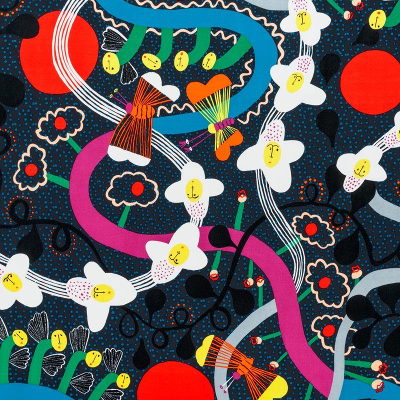 Textile The Story of Flowers - Velvet | Svenskt Tenn