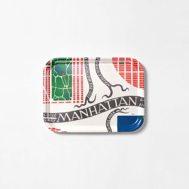 Tray Manhattan 27x20 cm Manhattan Rectangle Josef Frank Svenskt