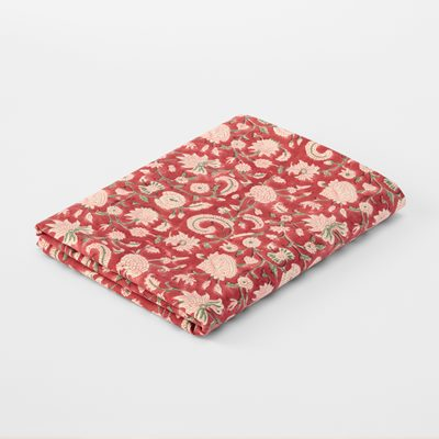 Table Cloth Block Print Oriental Rose - 150x250 cm, Cotton, Svenskt Tenn | Svenskt Tenn
