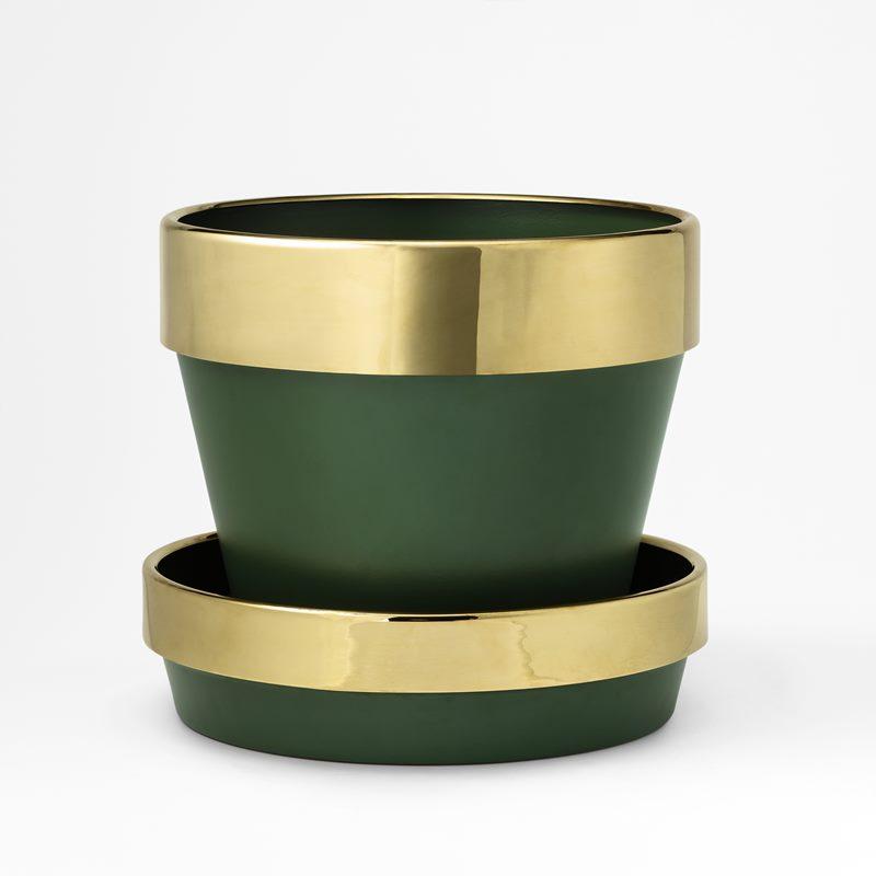 Pot H 2573 - Aluminium/Brass | Svenskt Tenn