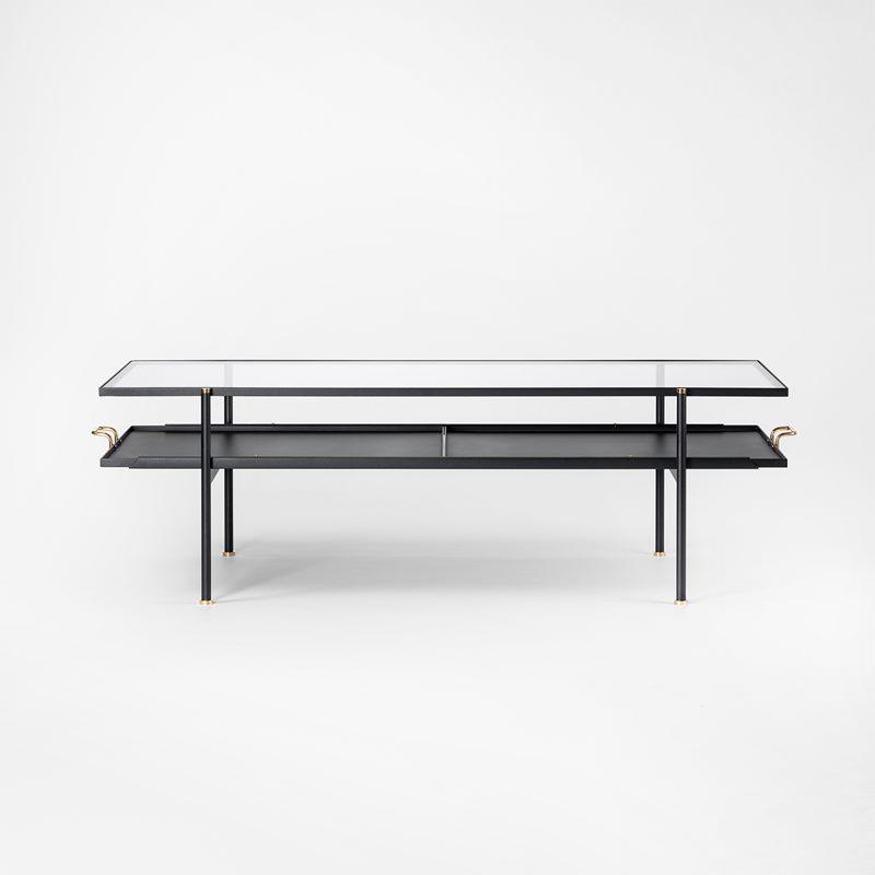 Soffbord Nizza - 50x64x170 cm, Metall Glas | Svenskt Tenn