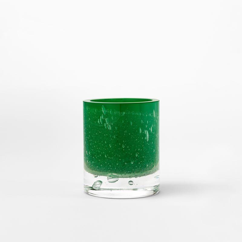 Candle Holder Hurricane Soda - Glass, Green | Svenskt Tenn