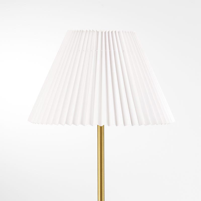 Lampskärm Plisserad - 32 cm, Bomull, Vit | Svenskt Tenn