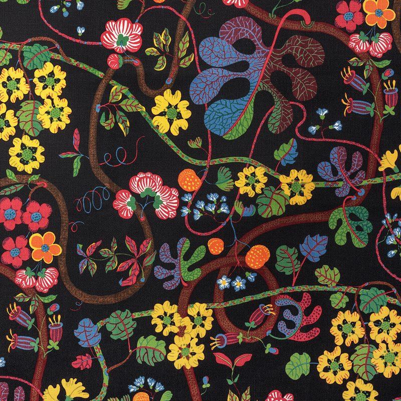 Textile Baranquilla - Linen 450, Baranquilla, Black | Svenskt Tenn