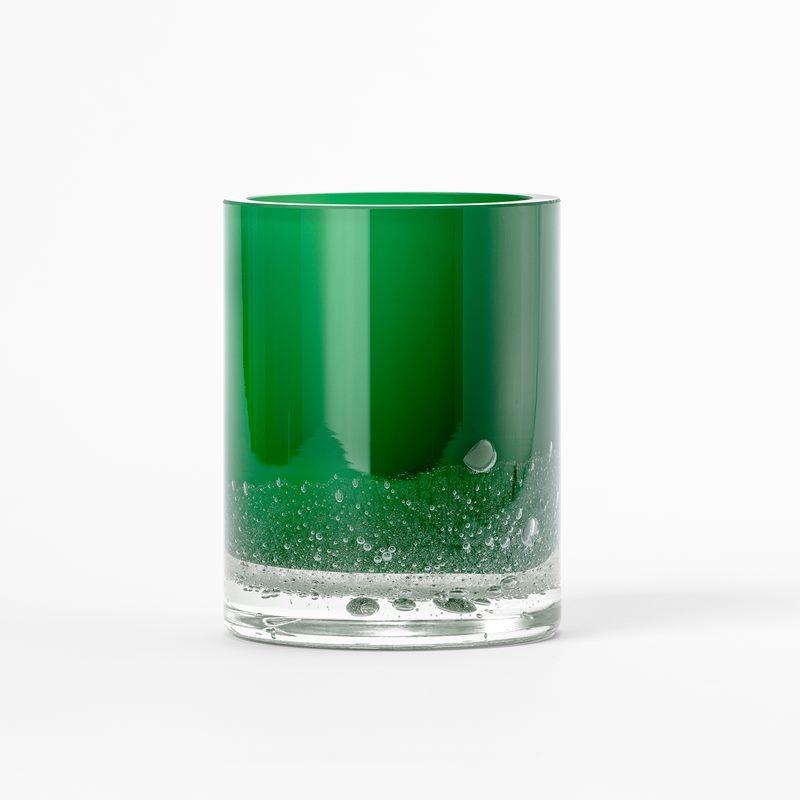 Vase Hurricane Soda - 18 cm, Glass, Green | Svenskt Tenn