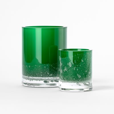 Vase Hurricane Soda - 18 cm, Glass, Green, Skogsberg & Smart | Svenskt Tenn