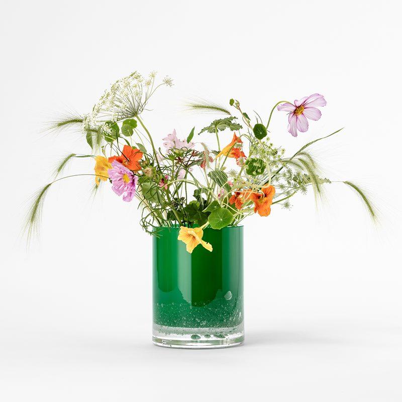 Vas Hurricane Soda - 18 cm, Glas, Grön | Svenskt Tenn