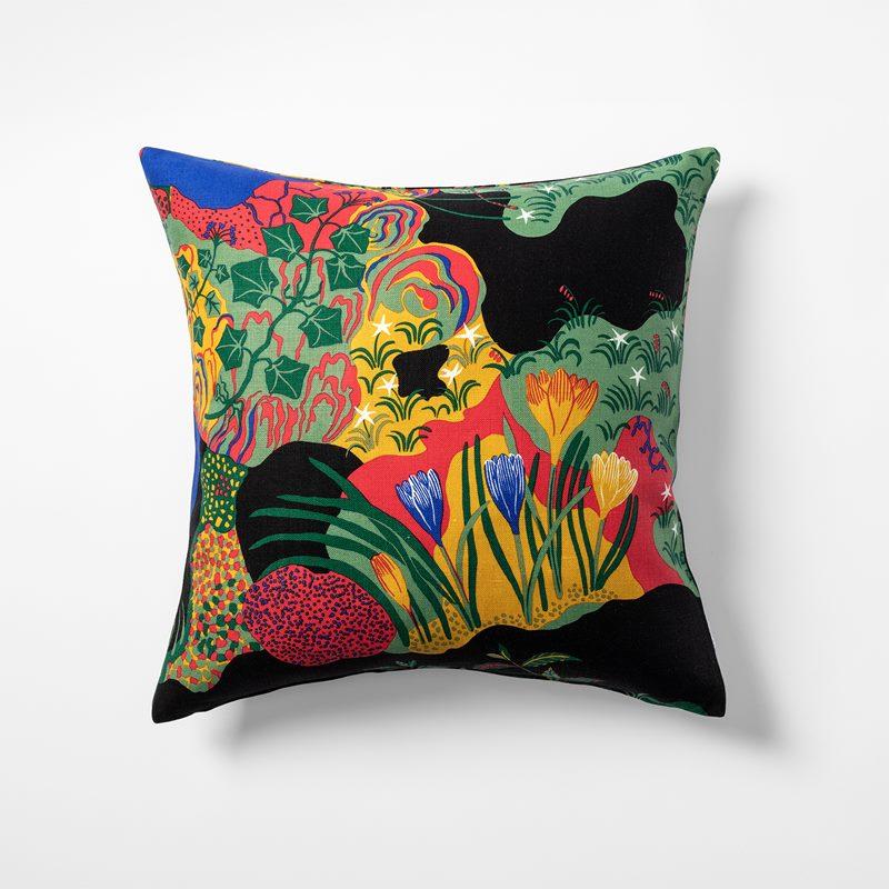 ca621058f4f Cushion Anakreon - 50x50 cm, Linen, Anakreon, Black | Svenskt Tenn