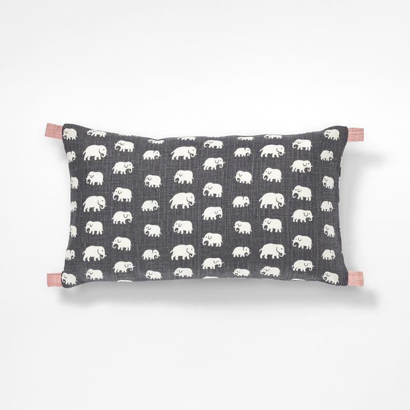 4c3242a5aff Cushion With Flap - 30x50 cm, Linen, Elefant, Grey | Svenskt Tenn