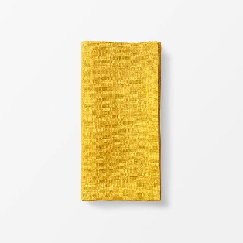 Napkin Svenskt Tenn Linen - 50x50 cm, Linen, Yellow | Svenskt Tenn
