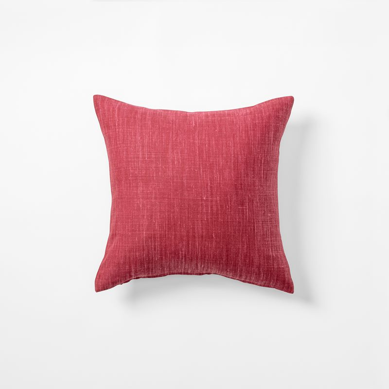 Cushion Svenskt Tenn Linen - 40x40 cm, Linen, Dark Pink | Svenskt Tenn