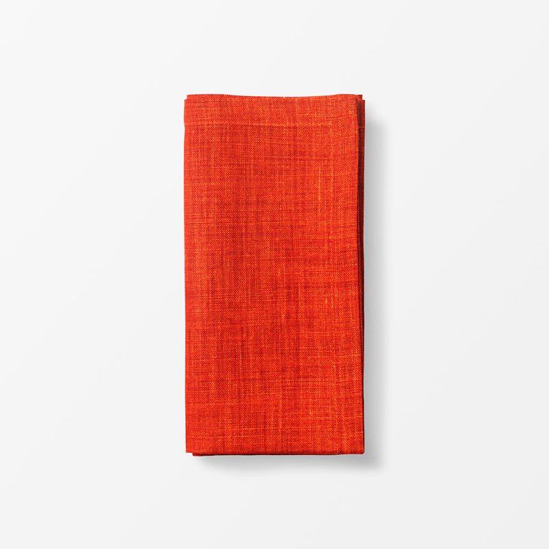 Napkin Svenskt Tenn Linen - 50x50 cm, Linen, Orange | Svenskt Tenn
