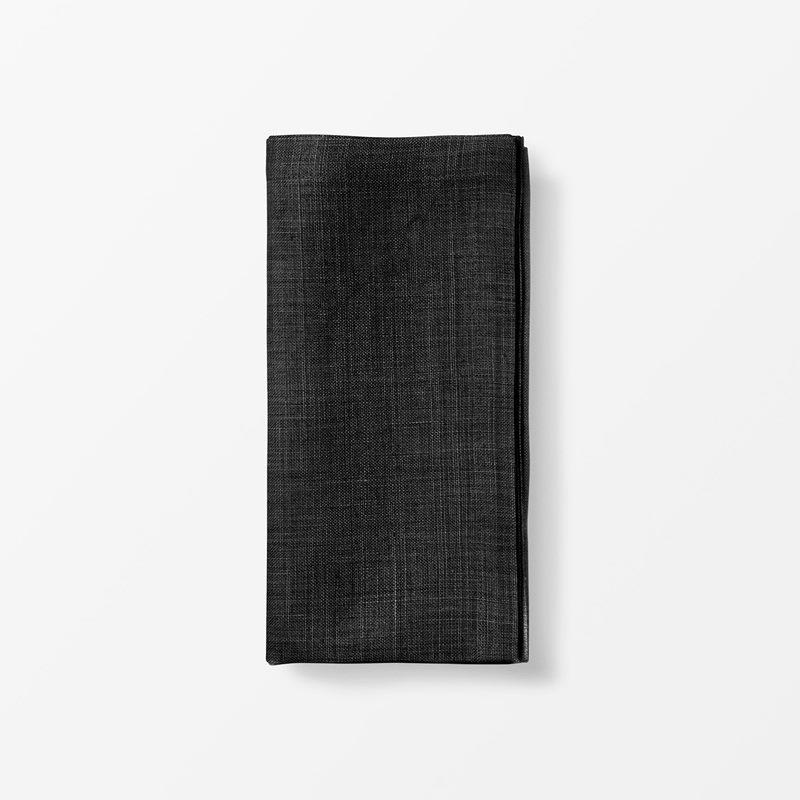 Napkin Svenskt Tenn Linen - 50x50 cm, Linen, Black | Svenskt Tenn