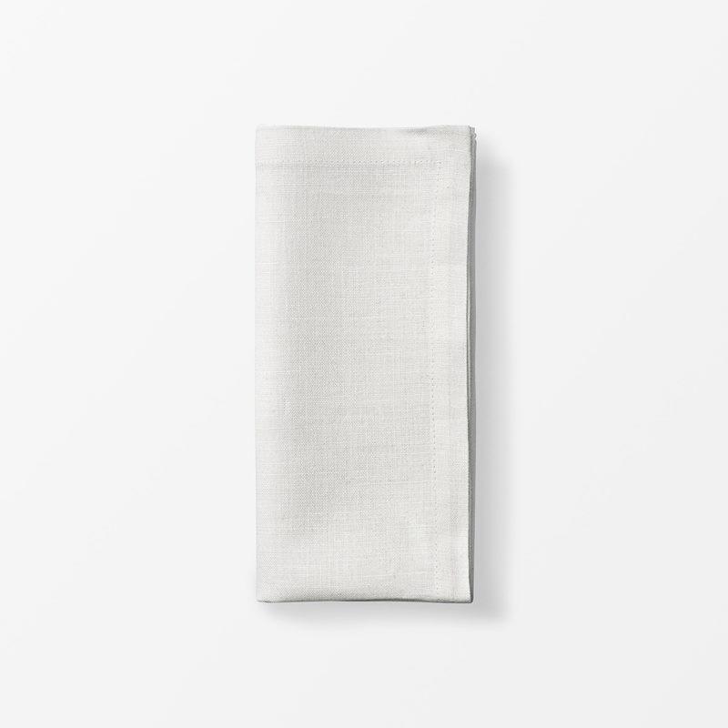 Napkin Svenskt Tenn Linen - 50x50 cm, Linen, White | Svenskt Tenn