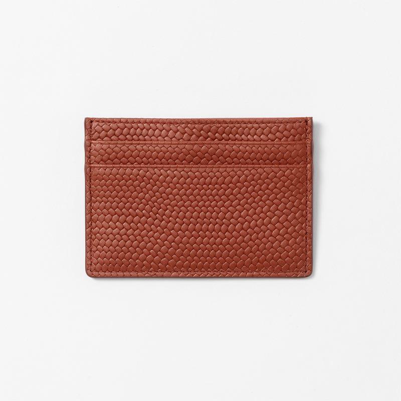 Cardholder Embossed Leather - Leather, Cognac | Svenskt Tenn
