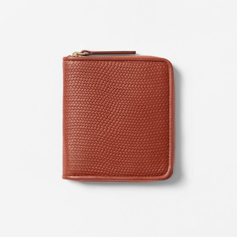 Wallet Embossed Leather - Skin, Cognac | Svenskt Tenn