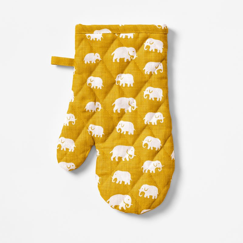 Grytvante Elefant - Lin, Elefant, Gul | Svenskt Tenn