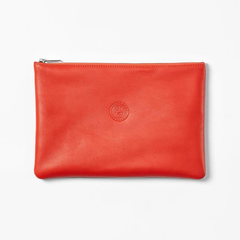Purse Emblem Large - 24 cm, Leather, Red | Svenskt Tenn