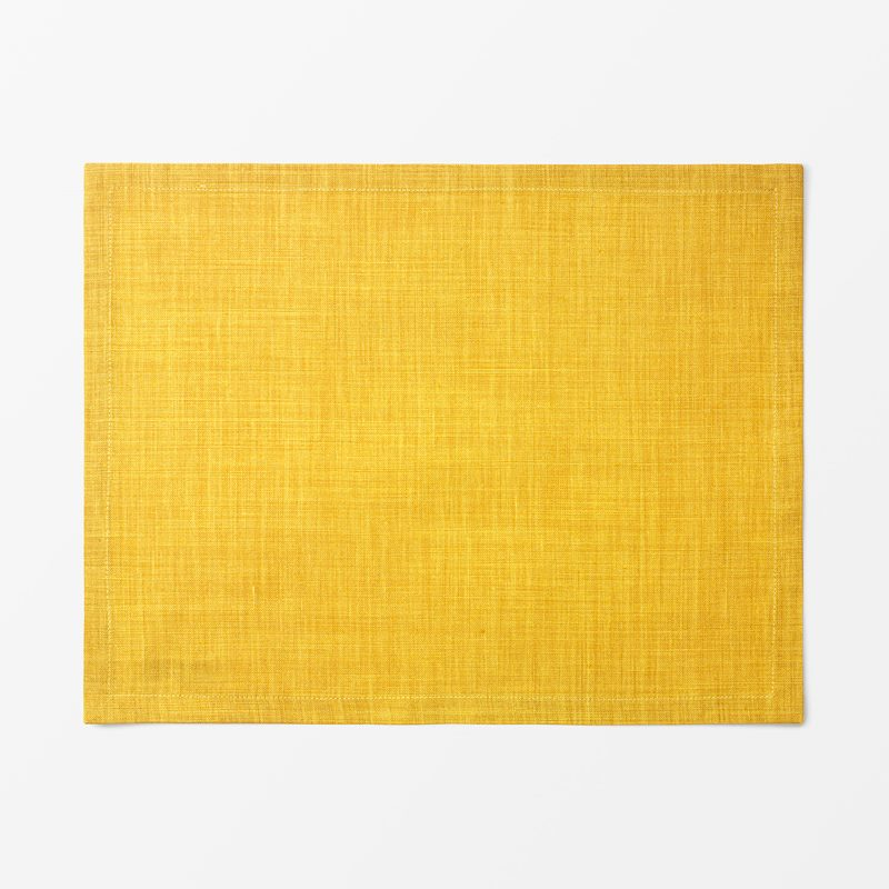 Placemat Textile Svenskt Tenn Lin - 35x45 cm, Linen, Yellow | Svenskt Tenn