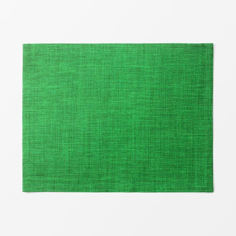 Placemat Textile Svenskt Tenn Lin - 35x45 cm, Linen, Dark Green | Svenskt Tenn