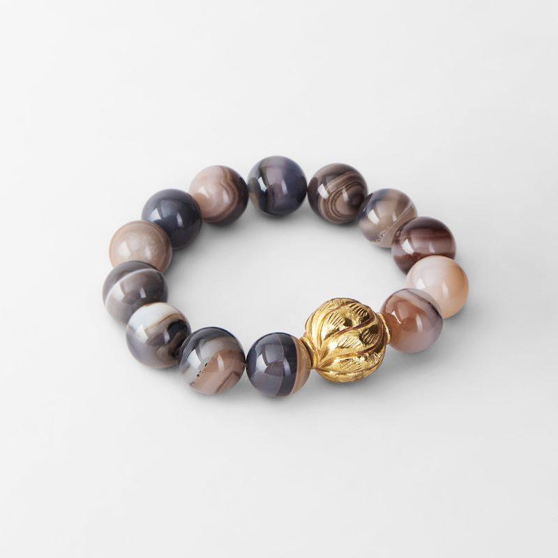 Bracelet Agate - Agate, Grey & Pink | Svenskt Tenn