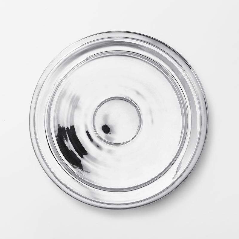 Plant Pot Saucer - 34,5 cm, Silver plated Brass | Svenskt Tenn