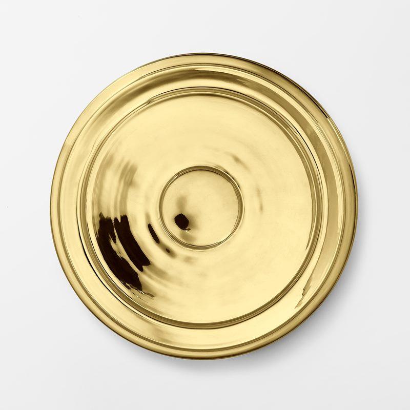 Plant Pot Saucer - 34,5 cm, Brass | Svenskt Tenn