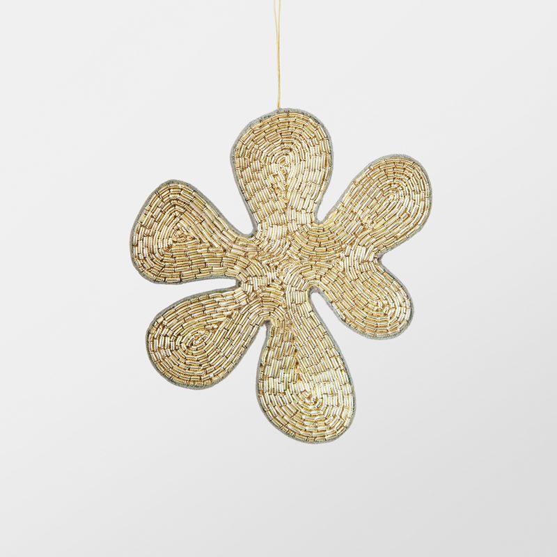 Decoration Flower Embroidered - Metal, Gold | Svenskt Tenn