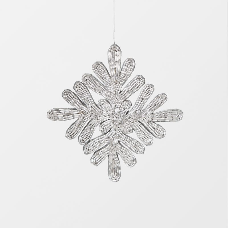 Decoration Flake Embroidered - Metal, Silver | Svenskt Tenn