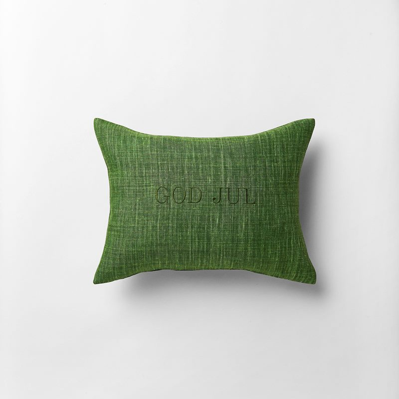 Cushion God Jul - 30x40 cm, Linen, Ivy Green | Svenskt Tenn