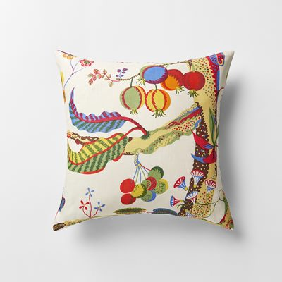 Kudde Vegetable Tree - 50x50 cm, Lin, Vegetable Tree, Josef Frank/Svenskt Tenn | Svenskt Tenn