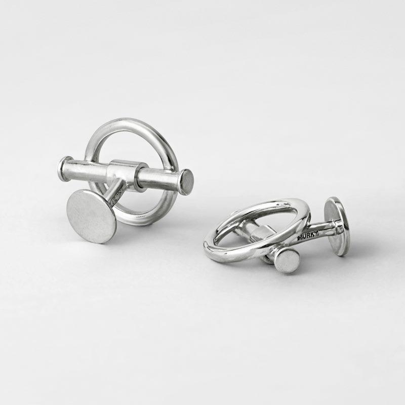 Manschettknapp Stor Cirkel - Silver | Svenskt Tenn