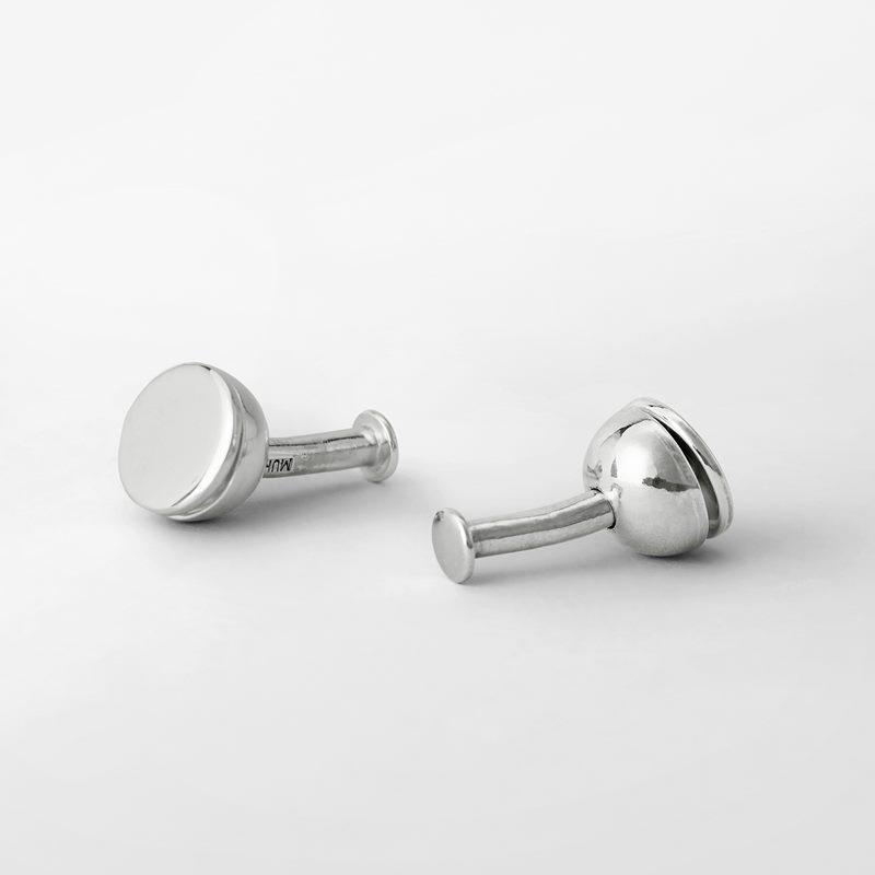 Manschettknapp Pärla Halv - Silver | Svenskt Tenn