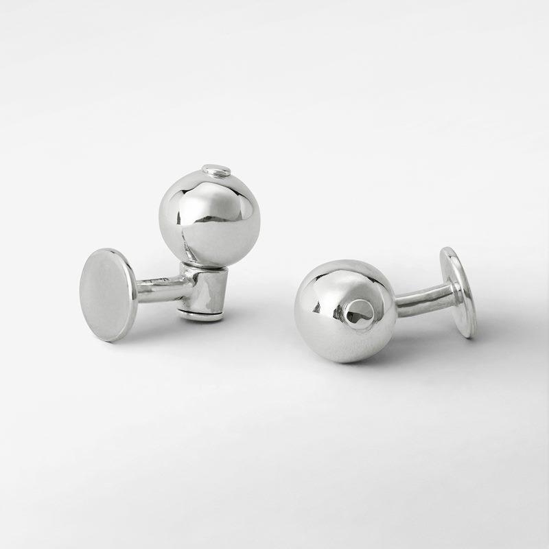 Cufflinks Pearl - silver | Svenskt Tenn