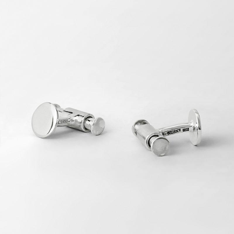 Manschettknapp Stav - Silver | Svenskt Tenn