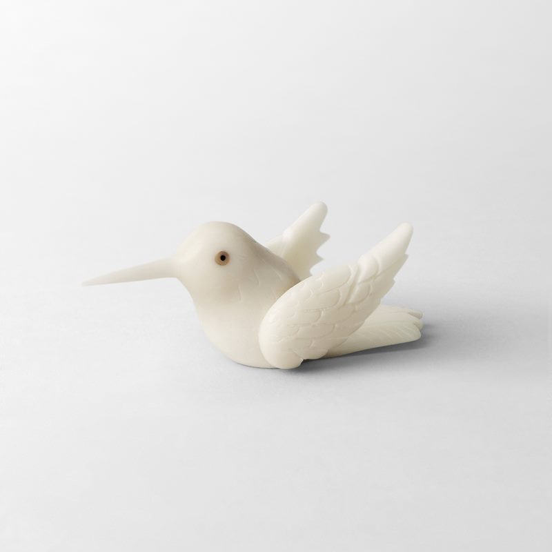 Place Card  Holder Hummingbird - 3x3 cm, Tagua Palm | Svenskt Tenn