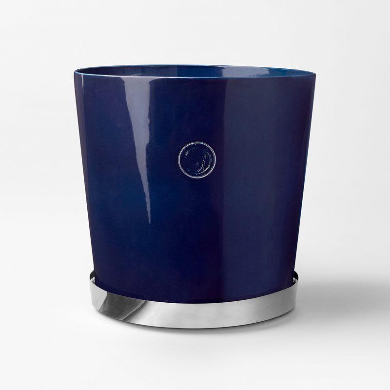 Pot Svenskt Tenn - 36 cm, Stoneware, Midnight blue | Svenskt Tenn