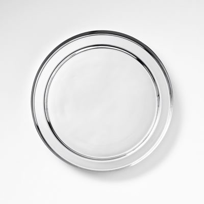 Plant Pot Saucer 22 Cm Silver Plated