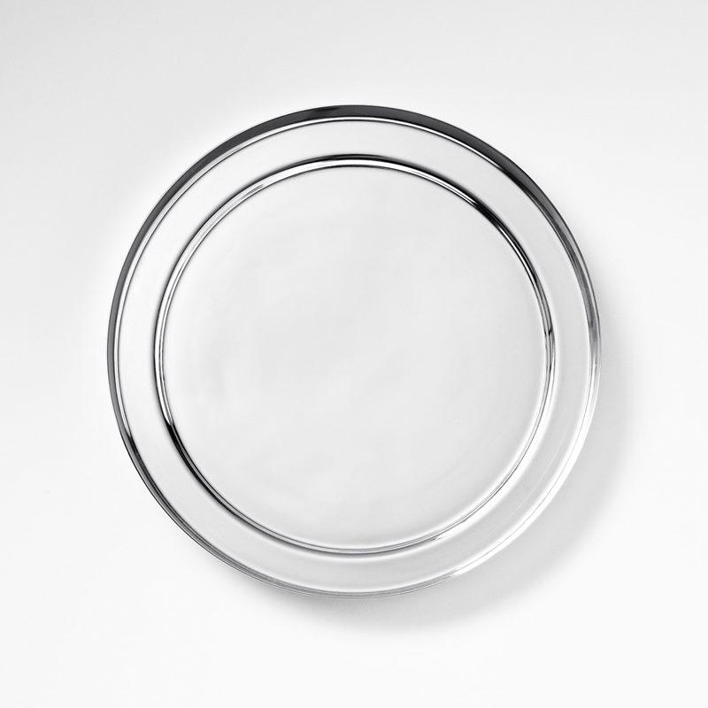 Plant Pot Saucer - 22 cm, Silver plated Brass | Svenskt Tenn