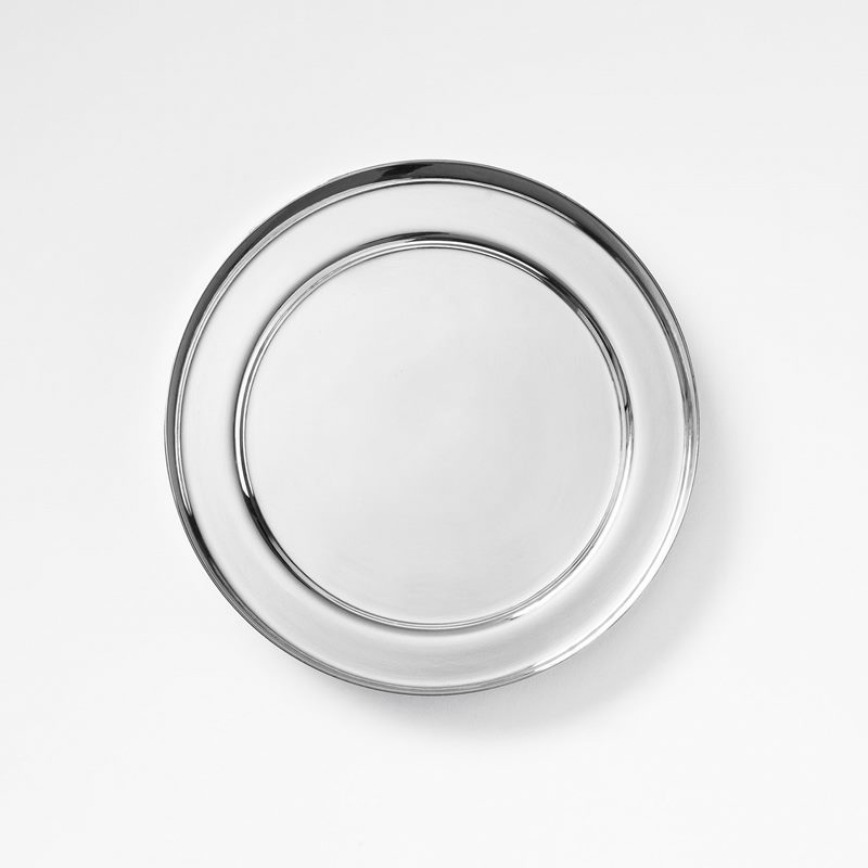 Plant Pot Saucer - 16,5 cm, Silver plated Brass | Svenskt Tenn